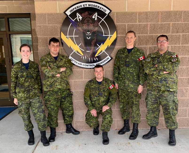 Two Royal Canadian Air Force air battle manager students and three instructors from 51 Aerospace Control and Warning (Operational Training) Squadron in North Bay, Ont., attended air battle manager training at 337th Air Control Squadron, located in Florida. RCAF Photo