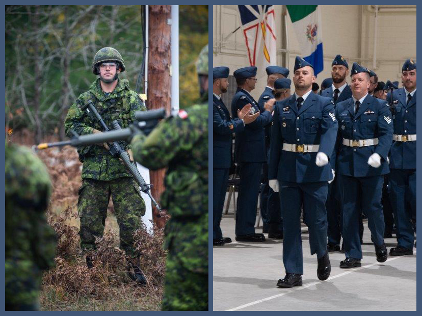MCpl Arthur Melanson acted as the parade warrant officer during his primary leadership qualification graduation parade in the fall of 2019 at the Royal Canadian Air Force Academy located at 16 Wing Borden, Ont. RCAF Image