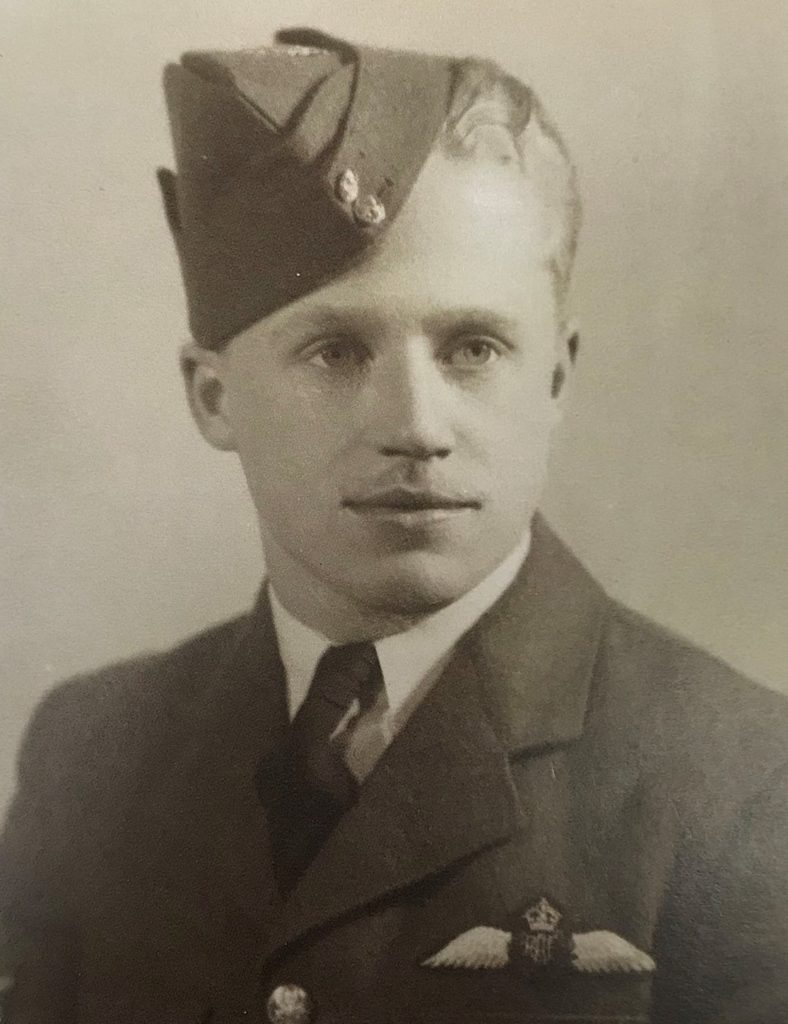 Newly-winged pilot Jean Cauchy's 1944 graduation portrait. Jean Cauchy Photo