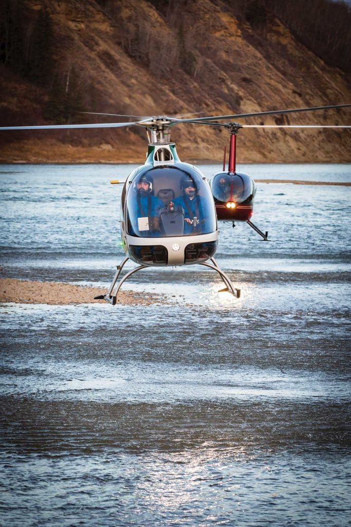 Students have a choice between the Cabri G2 and the Robinson R44 for their training, but the majority of student flight hours are recorded on the Cabri. Heath Moffatt Photo