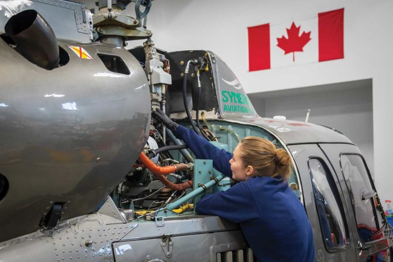 Synergy Aviation and Synergy Flight School share the same maintenance team. Nine AMEs are able to service the fleet, working a variety of shift patterns to ensure coverage when needed. Heath Moffatt Photo