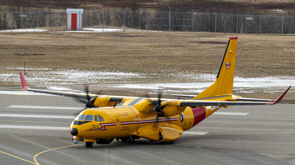 New Fix Wing Search and Rescue CC-295 landing at 14 Wing. Leading Seaman Louis-Philippe Dubé/RCAF Photo