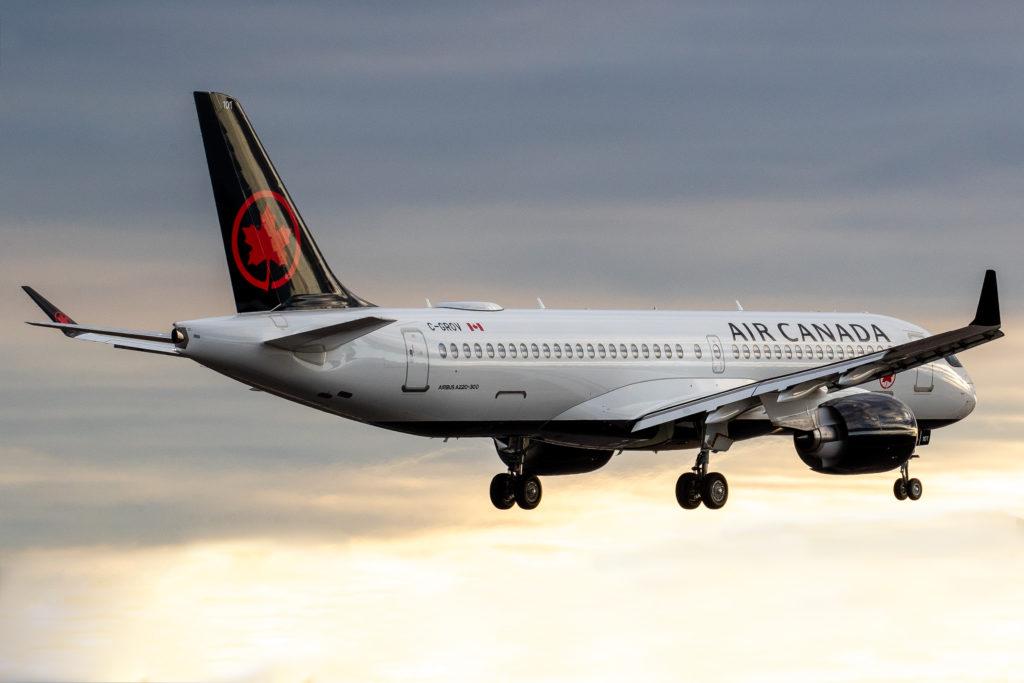 Air Canada Airbus A220-300 C-GROV returning to Pearson Airport. Patrick Cardinal Photo