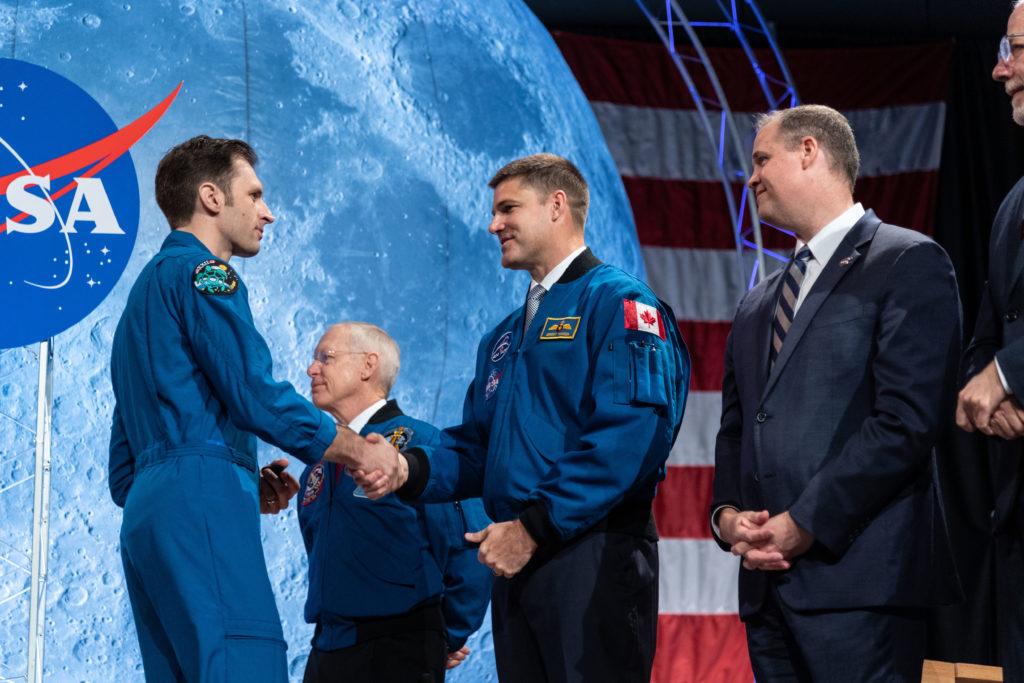 CSA astronaut Joshua Kutryk during his class' graduation ceremony. Robert Markowitz/NASA - Johnson Space Center Photo