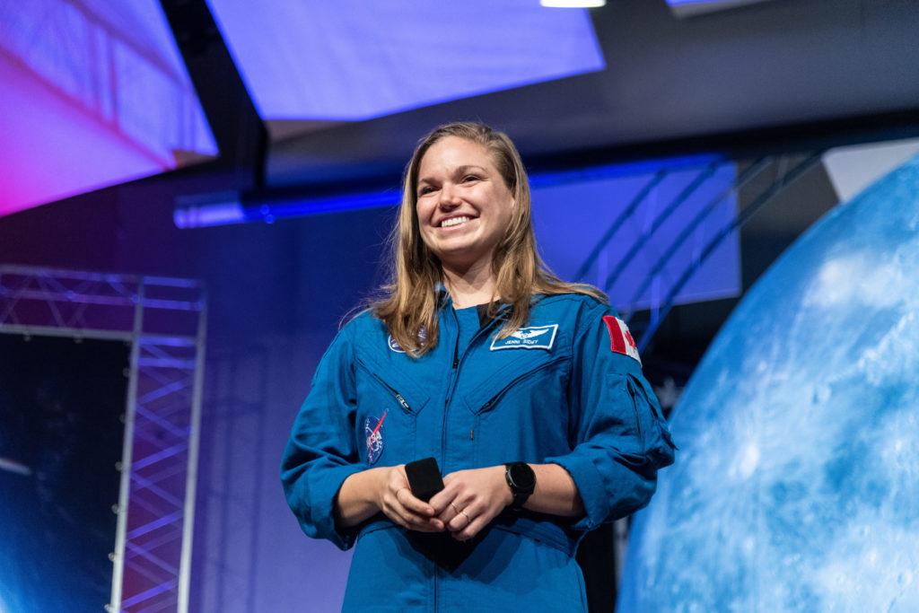 CSA astronaut Jenni Sidey-Gibbons during her class' graduation. Robert Markowitz/NASA - Johnson Space Center Photo