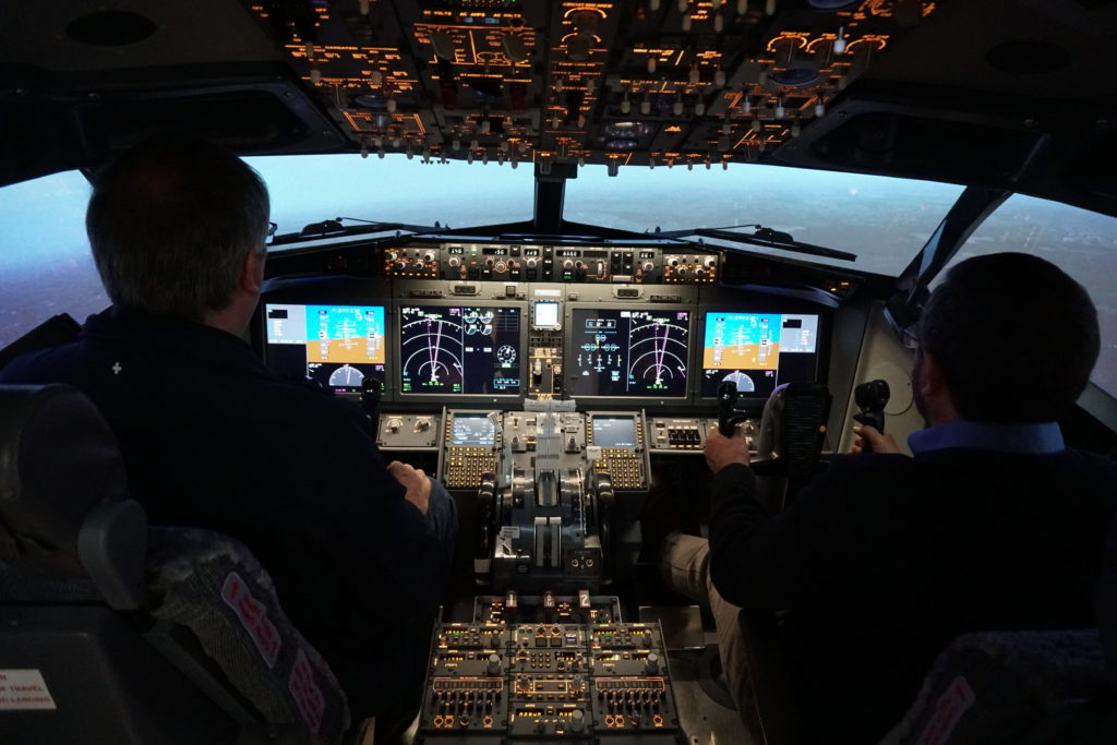 Contrary to its prior position, Boeing is now recommending that pilots complete Max 8 simulator training before returning to the air. Lisa Gordon Photo