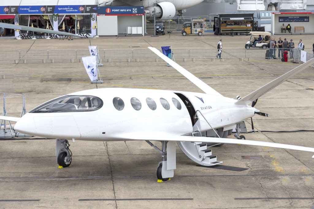 The Eviation Alice, seen here during the Paris Air Show where it made its debut. Jean-Marie Liot/Eviation Photo