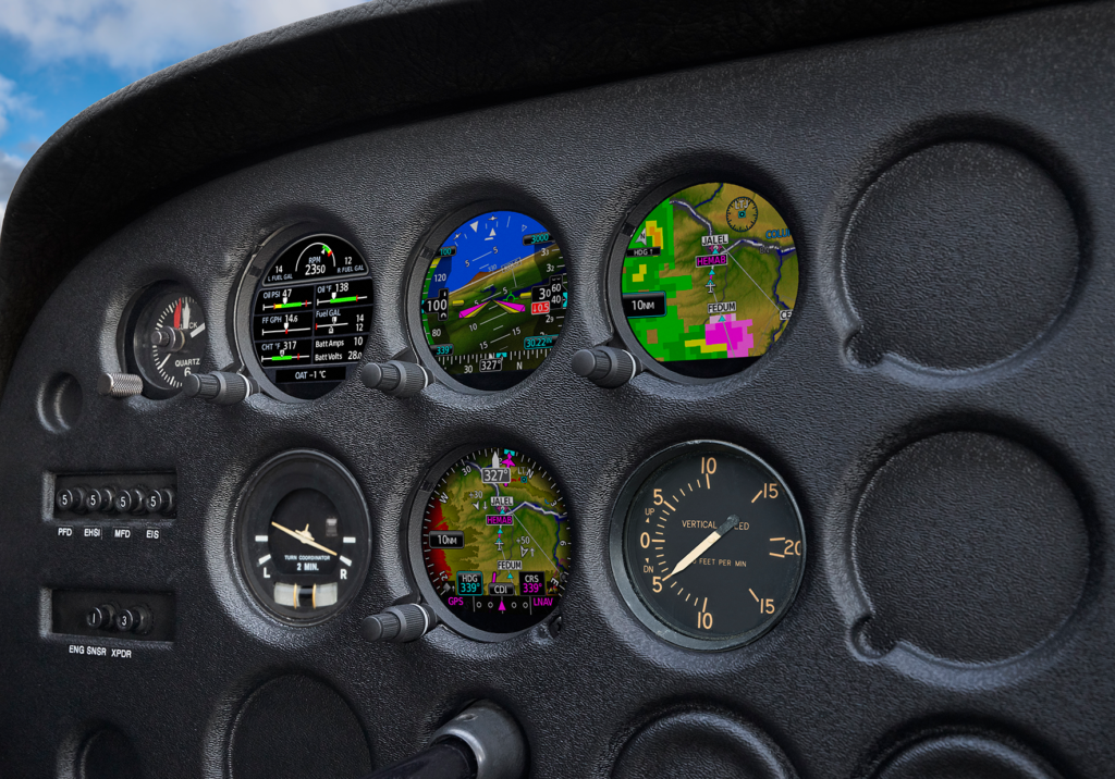 The GI 275 is intentionally designed to take advantage of the common 3.125-inch flight instrument size, reducing installation time and preserving the existing aircraft panel. Garmin Photo