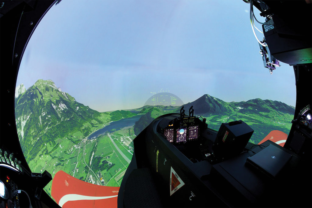 Ground simulation facilities are a core part of the overall PC-21 training system. Pilatus Photo