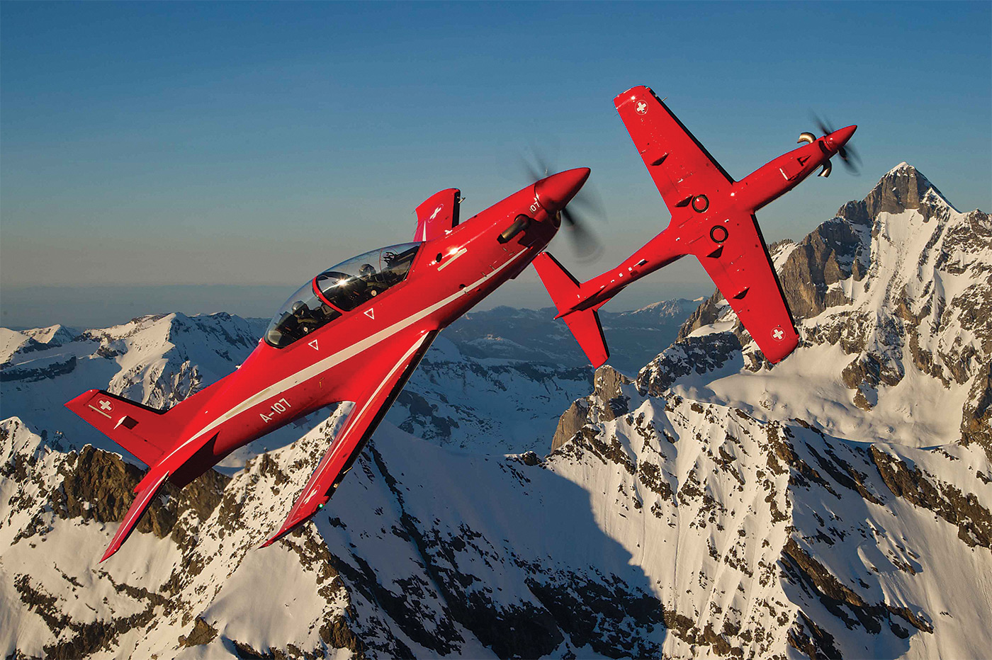With its PC-21 military trainer, Pilatus has blended in-air and in-simulator experiences, creating a form of high fidelity, in-flight simulation. Pilatus Photo