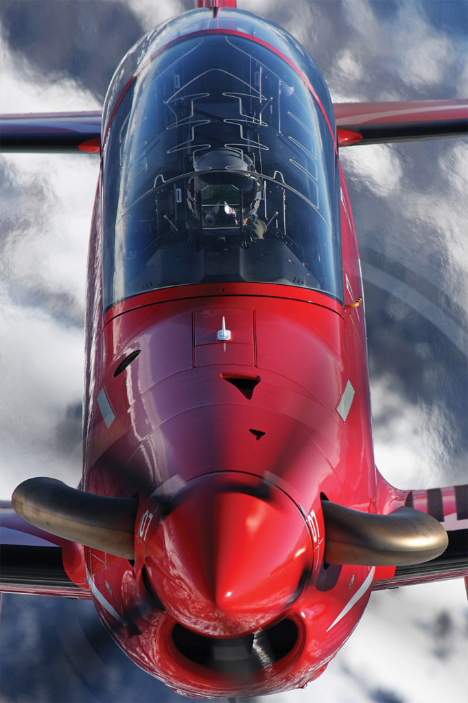 With 1,600 horsepower, the PC-21 has better power loading than a Second World War Mustang fighter. Pilatus Photo