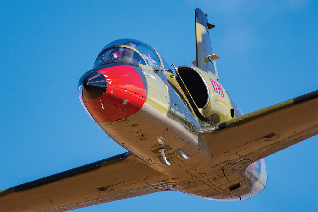 The L-39 jet is the other workhorse of the fixed-wing syllabus. Eric Dumigan Photo