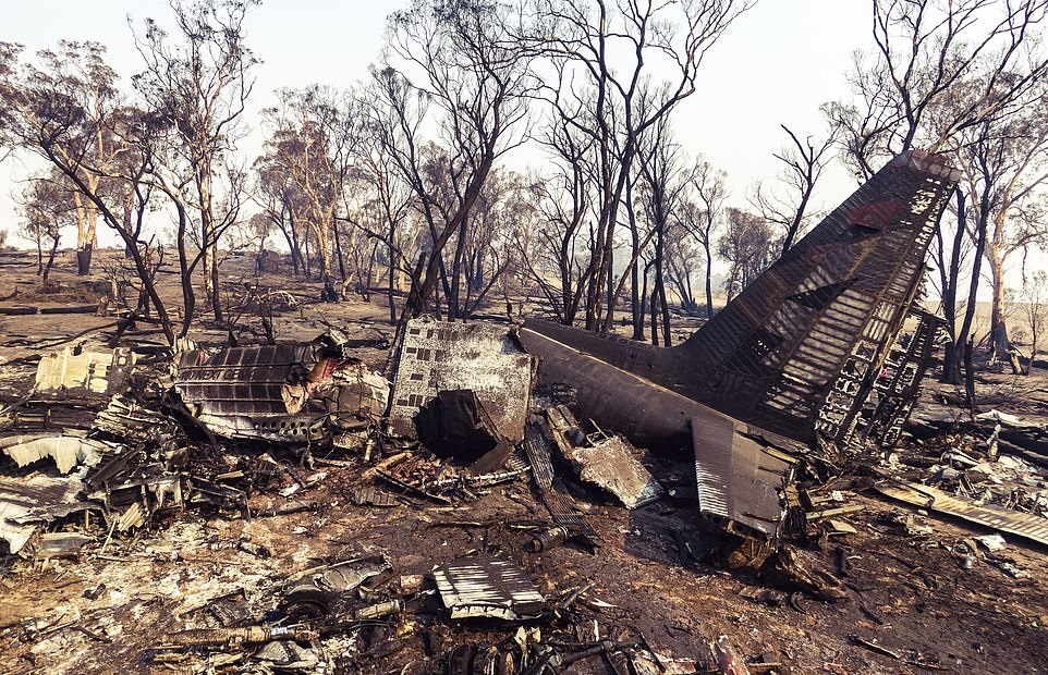 The crash of Coulson's C-130 in New South Wales claimed the lives of all three crew members on board. ATSB Photo