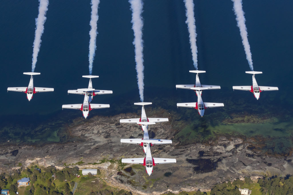 Two of the Snowbirds' more senior pilots decided not to continue for the 2020 season, so they will be replaced. An announcement about the new team members is expected in February. Heath Moffatt Photo