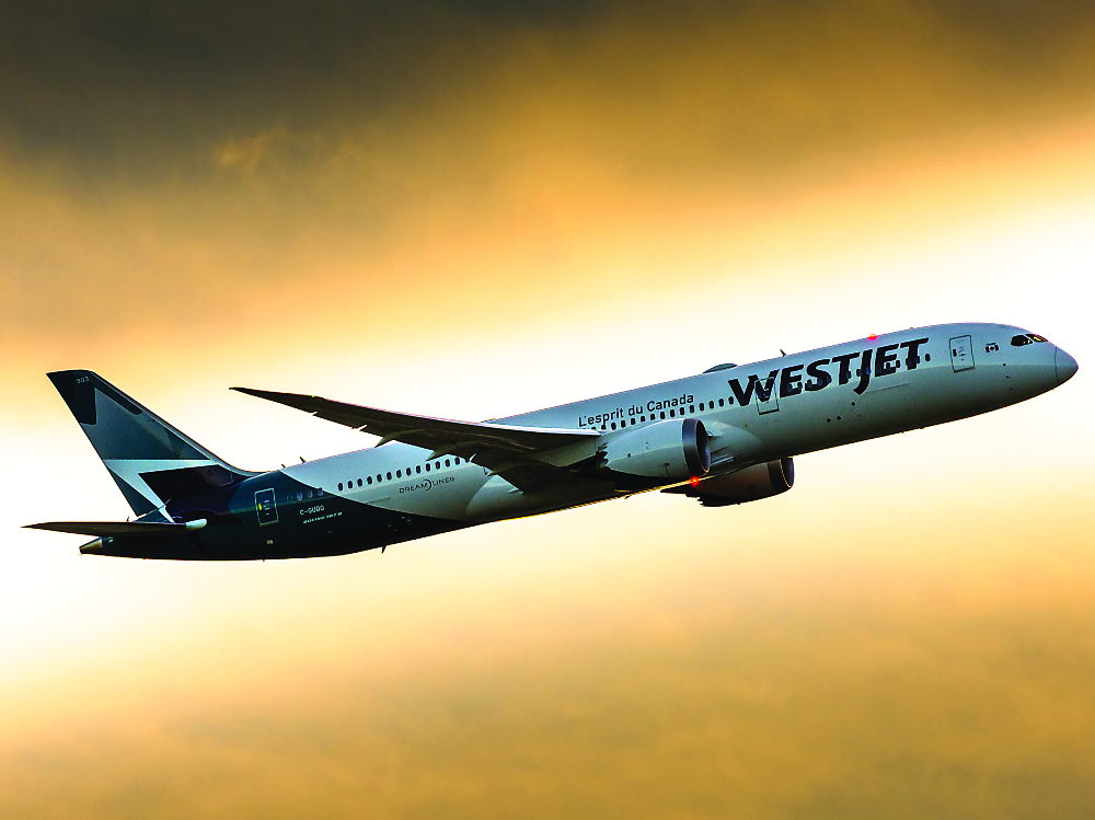 The addition of Boeing's twin-aisle 787 Dreamliner in 2019 meant WestJet could make plans to start competing aggressively overseas. Rinat Haque Photo
