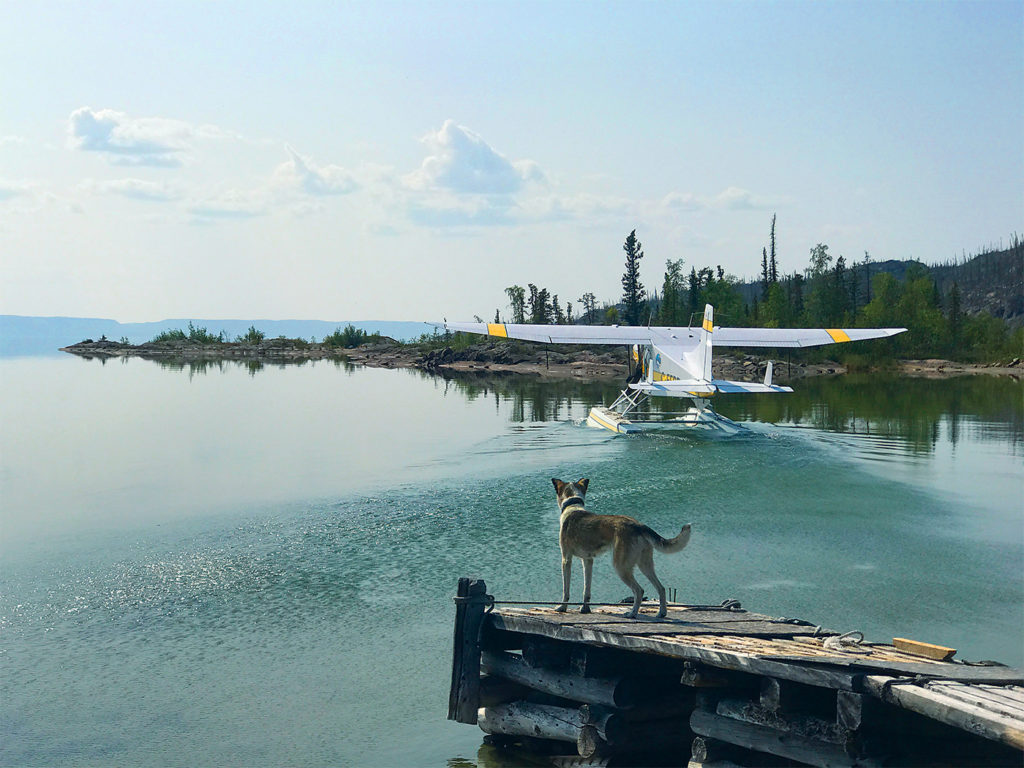 With a 97-kilometre (60-mile) fetch of open water to the southwest, a glassy-calm summer morning for float flying is a real pleasure. Kristin Gilbertson Olesen Photo