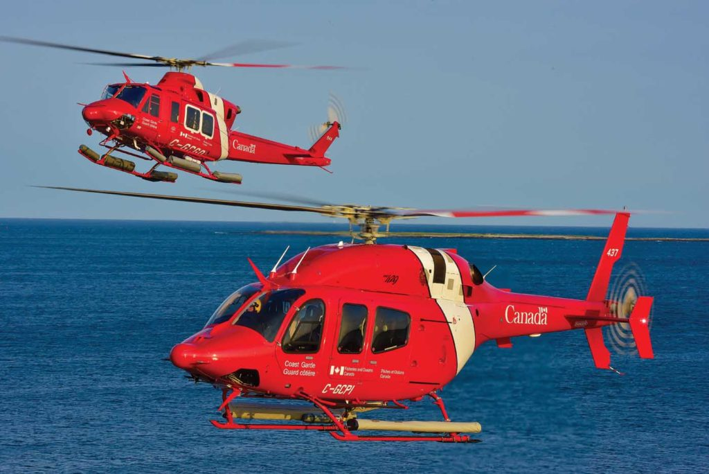 Bell recently completed a major contract with the Canadian Coast Guard, delivering 15 429s and seven 412EPIs to the agency. The 412s have been heavily customized for their role with the Coast Guard. Mike Reyno Photo