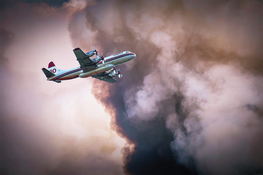 The Lockheed L-188 Electra has been an important component of Conair's fleet. Ethan Delichte Photo