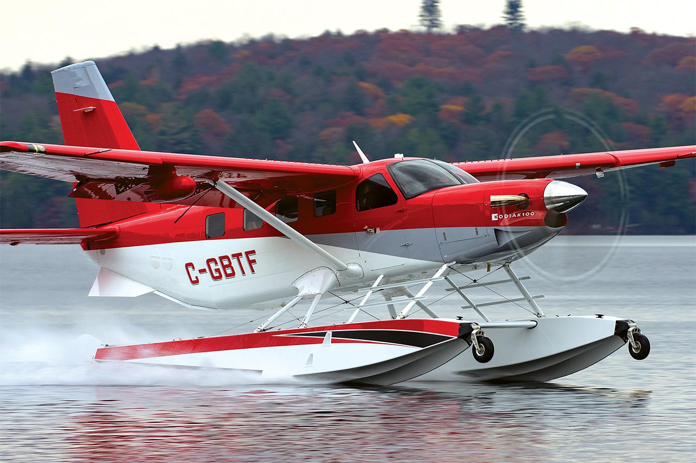 Aerodynamics meets hydronamics -- the Kodiak seems ready to leap into the air courtesy of its super efficient Aerocet 6650 composite floats. Eric Dumigan Photo