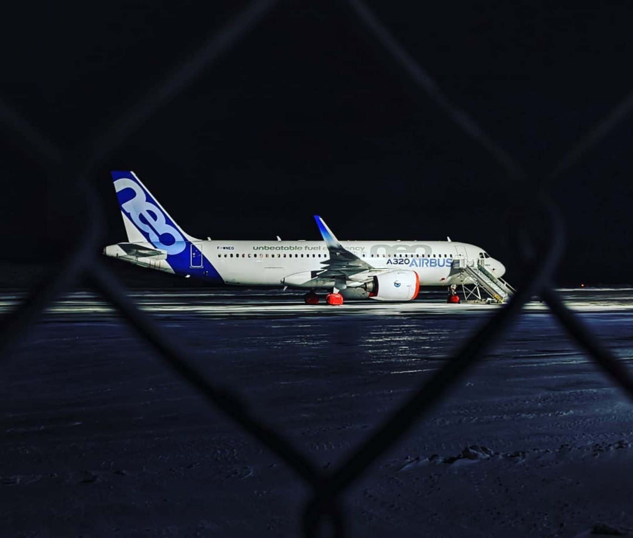 Airbus A320neo in Iqaluit for cold weather testing. Photo submitted by Colin Gibson (Instagram user @colin.gibson1984) using #skiesmag