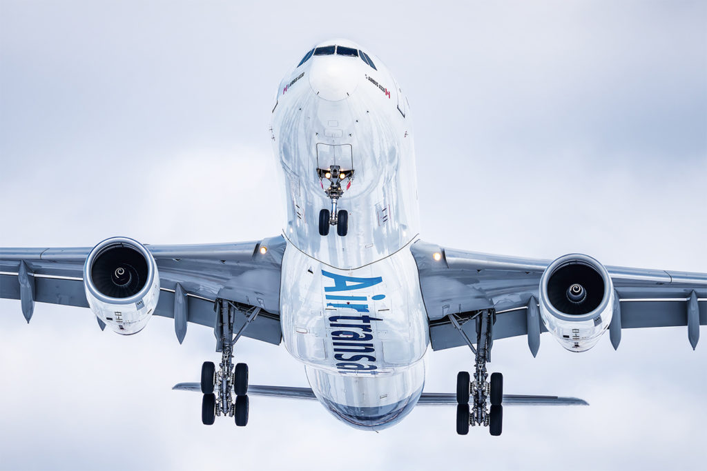 Air Transat is shutting down operations until at least April 30 once its customers have been repatriated to Canada. Temporary layoffs and other cost-cutting initiatives are in place. Alvin Man Photo
