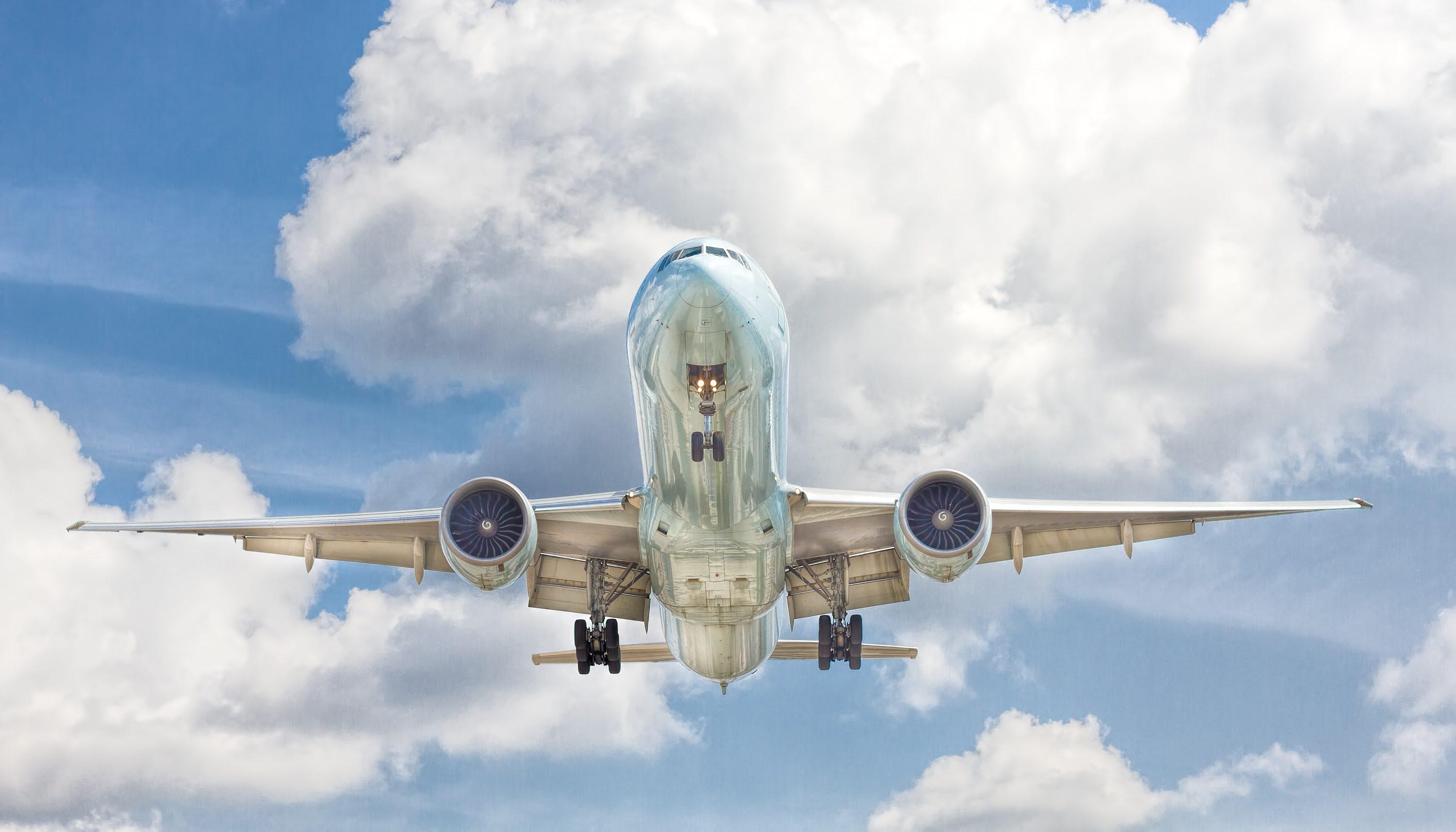 Aircraft blue sky