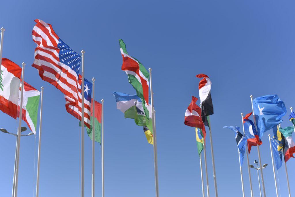 Global flags photo by Vladislav Klapin