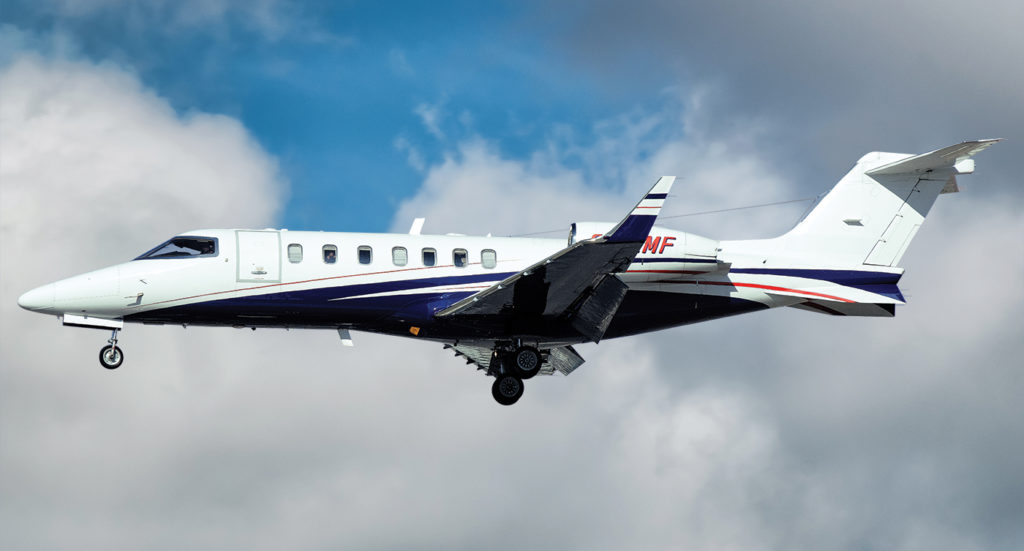 Since it was founded in 1996, Fox Flight's fleet has been upgraded from one Cessna Citation Eagle to three Lear 40XRs that are currently flying around the world. Nino Buda Photo