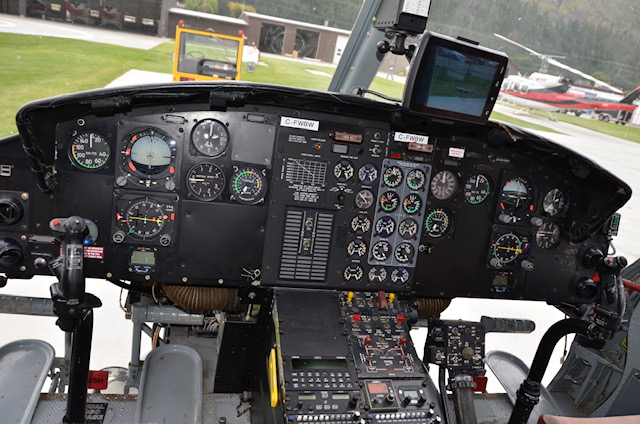 The 212's original gyro and flight instrument technology was getting less reliable, expensive to repair, and had to be replaced. Alpine Aerotech Photo