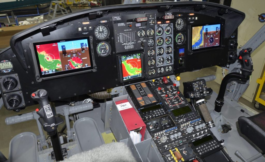 The large format landscape PFD panels provide clear customizeable display of information. Alpine Aerotech Photo