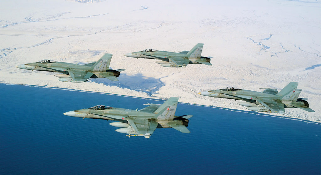 The Block III Super Hornet will have a 10,000-flight-hour airframe for U.S. Navy operations. Boeing says that bodes well for the RCAF, which does not operate in a corrosive salt water environment or from carrier decks or catapults. The CF-188 legacy Hornets (shown here) originally had a 6,000-hour airframe life but have successfully undergone various life extension programs over the years. Cpl Pierre Habib Photo