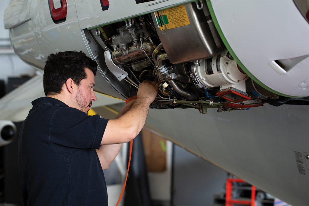 As a one-stop shop, Fox Flight is proud to offer maintenance, staffing and dispatch services. Stephen Ferrie Photo