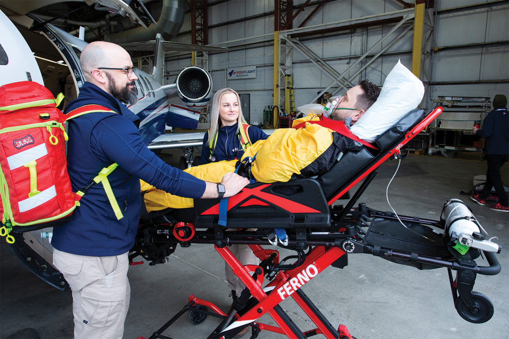 Fox Flight's main concern is passenger safety and comfort, which comes from founder David Fox's experience as a nurse escort. Stephen Ferrie Photo