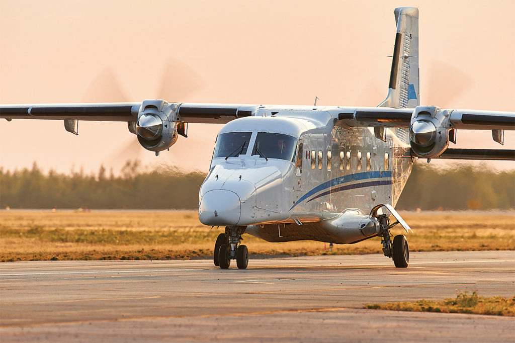 Most of Summit Air's current Dornier 228s were obtained in 2013. The short takeoff and landing (STOL) twin turboprop can transport up to 19 passengers or various cargo loads. Stephen M. Fochuk Photo