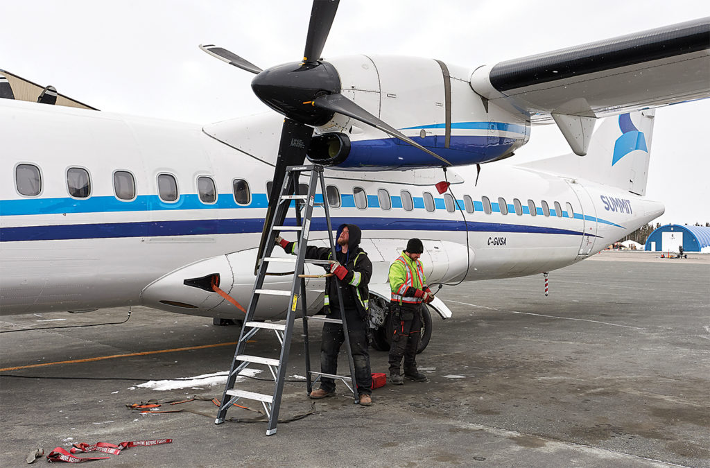 Summit is well acclimated to northern weather and the challenges it presents, although newer-generation aircraft like the ATRs need to be treated more gently than legacy aircraft. Stephen M. Fochuk Photo