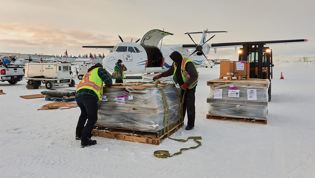 It took six months to reconfigure one of Summit's ATR 72 aircraft with a large cargo door. The project cost US$2.3 million and the aircraft took to the skies in December 2016. Stephen M. Fochuk Photo