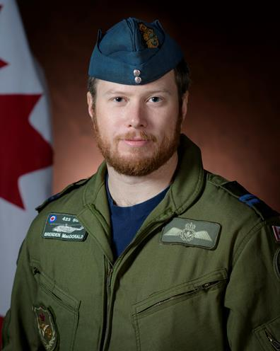 Captain Brenden Ian MacDonald, pilot. Canadian Armed Forces Photo