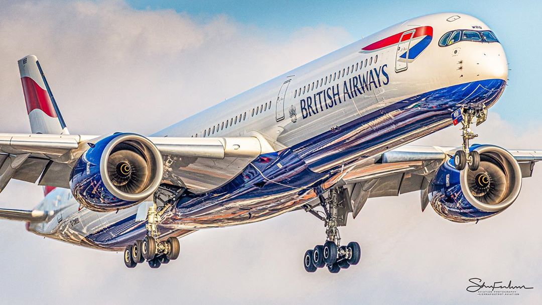 A British Airways Airbus A350-1000 arriving in Toronto. Photo submitted Shon Fridman (Instagram user @sierrafoxtrot.aviation) by tagging @skiesmag.
