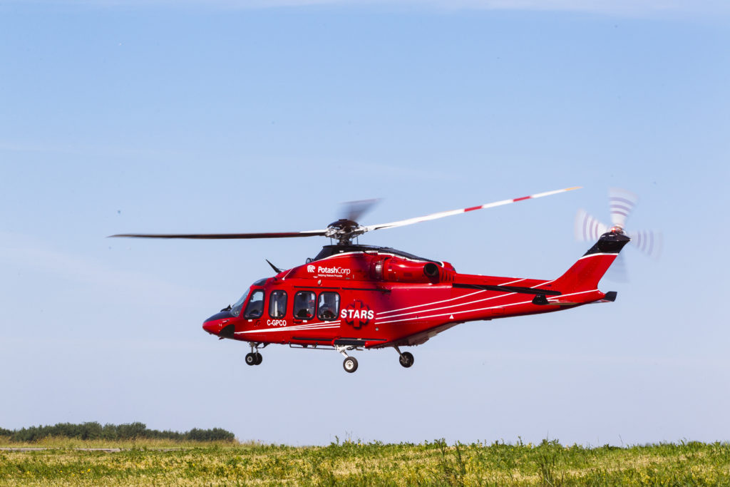 STARS currently flies three AW139s in its fleet. STARS Photo