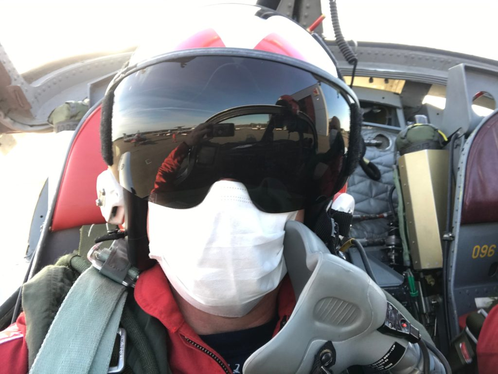 Members of the team are using PPE while on tour to help prevent the spread of COVID-19. CF Snowbirds Photo