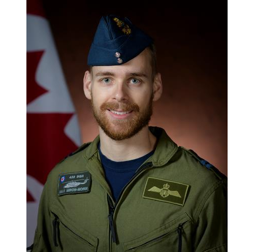 Captain Maxime Miron-Morin, air combat systems officer, originally from Trois-Rivières, Que. CAF Photo