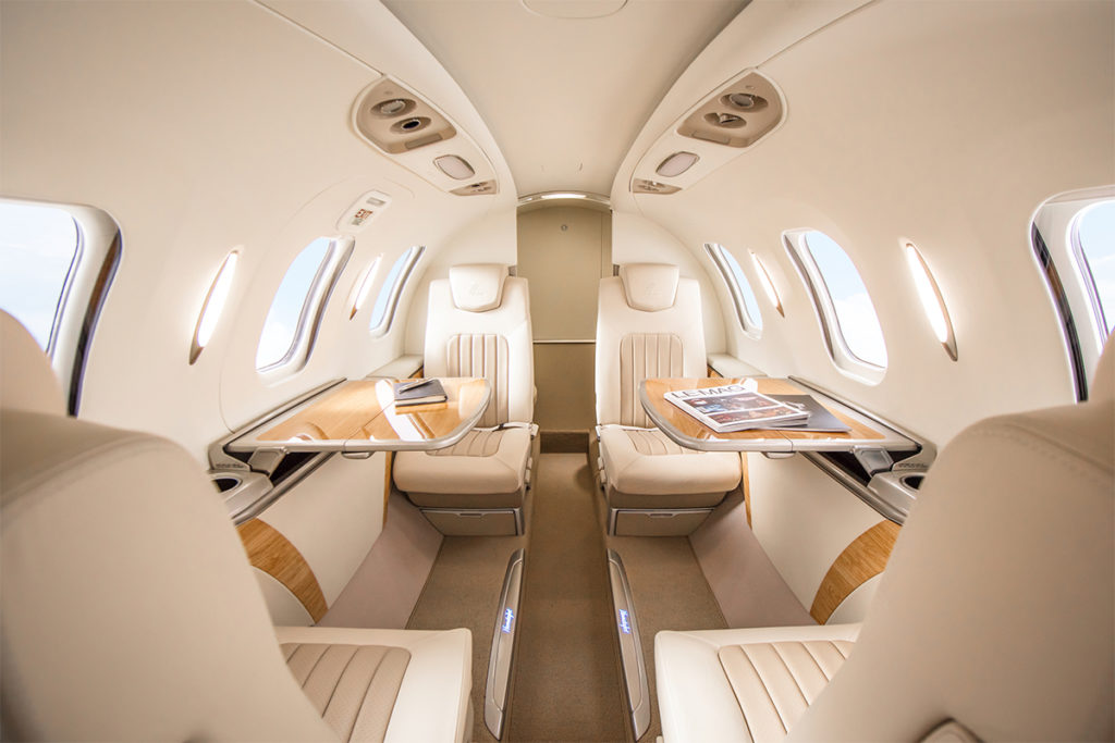 About one third of HA-420 buyers fly the aircraft themselves. The remainder enjoy the creature comforts of its passenger cabin. Honda Aircraft Photo