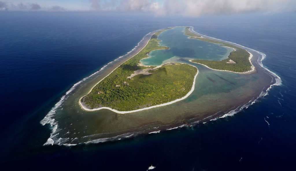 Nikumaroro Island, then called Gardner Island. TIGHAR Photo