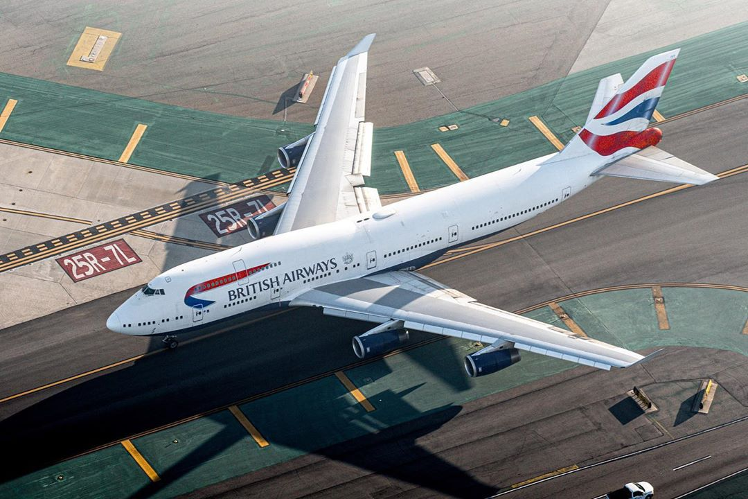 A beautiful aerial capture of the Queen, a British Airways Boeing 747. Photo submitted by Derek MacPherson (Instagram user @dmairplane) using #skiesmag.