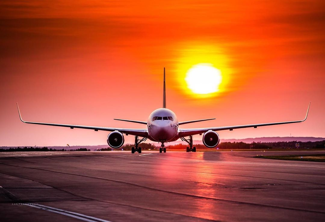 Beautiful shot of a Cargojet Boeing 767 under the sun in Moncton. Photo submitted by Karly Barker (Instagram user @karliaa) using #skiesmag.