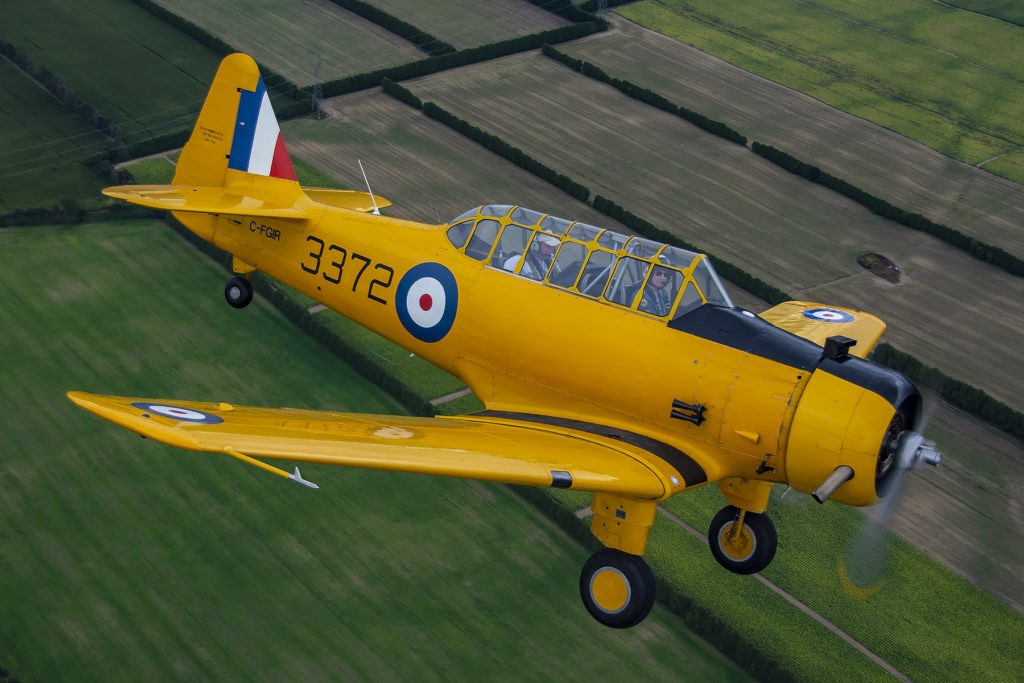 An aerial shot of Yale 3372, the aircraft was recently refurbished to fly again in time for the 50th anniversary of Ernie Simmons auction. Eric Dumigan Photo