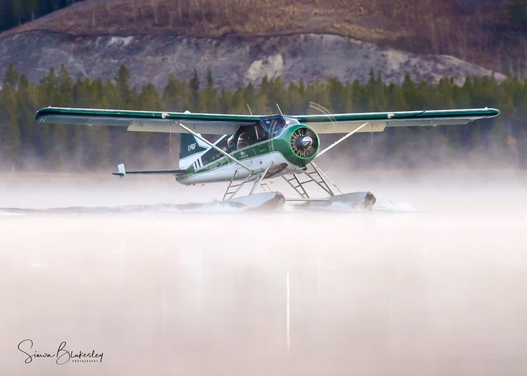 Alkan Air DHC-2 Beaver taxiing into a peaceful Yukon weekend. Photo submitted by Simon Blakesley (Instagram user @ simon_blakesley) using #skiesmag