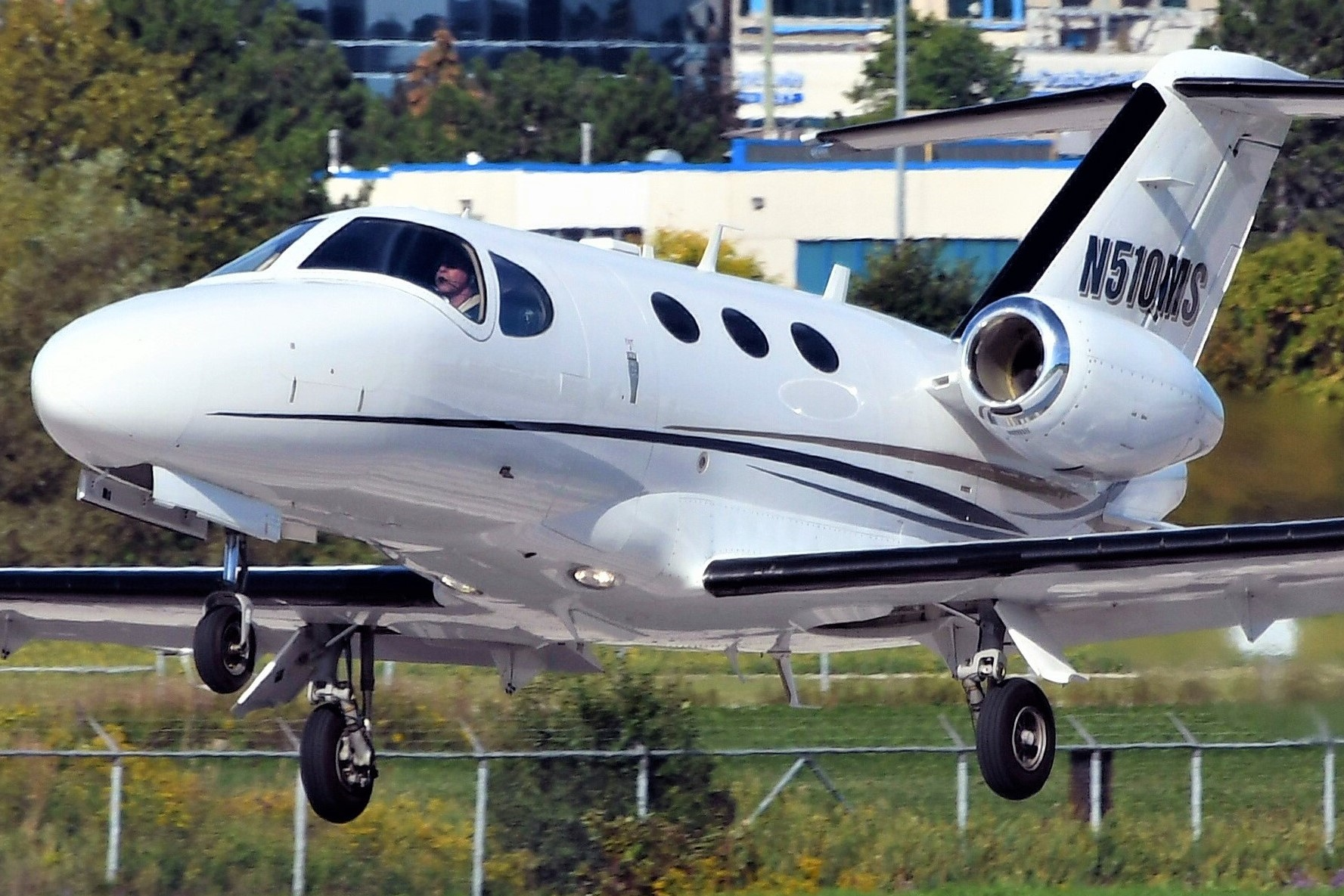 A Cessna Citation Mustang spotted at Toronto Buttonville Municipal Airport. Photo by Frederick K. Larkin